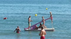 Torremolinos Beach Spain Stock Footage