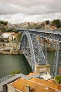 ponte luis i bridge, porto - stock photo