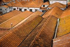 House roofs in porto, portugal Stock Photos