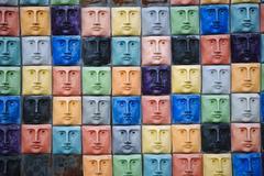 Colorful faces Stock Photos