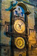 Astronomical clock in Prague, Czech Republic Stock Photos