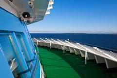 Cruise liner deck Stock Photos
