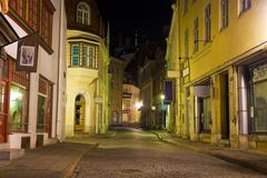 Old Tallinn at night Stock Photos