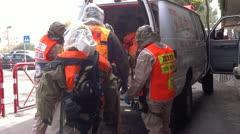Hospital Pelastuskoulutuksessa NBC valmius ambulanssi Arkistovideo