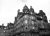 Classic street at edinburgh Stock Photos