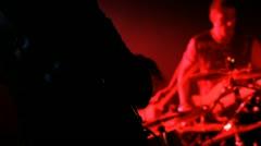 Drummer, guitarist, bassist Stock Footage