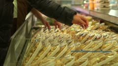 stock footage delicatessen, deli, cookery, gastronomy - stock footage