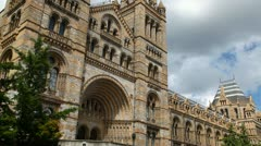 Natural History Museum, London entrance Stock Footage
