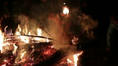 Christmas eve fireplace _4 Stock Footage