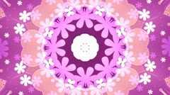 Pink and orange Kaleidoscope Background Stock Footage