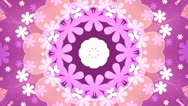 Stock Video Footage of Pink and orange Kaleidoscope Background