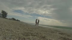 Walking by Two Teenage girls on Florida Beach (Beach Series part 8) Stock Footage