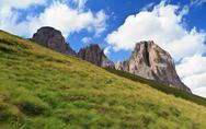Dolomites on summer Stock Photos