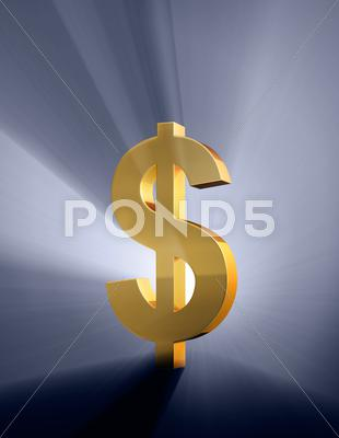 Stock Illustration of bold dollar