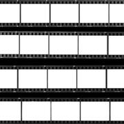 contact sheet blank film frames - stock photo