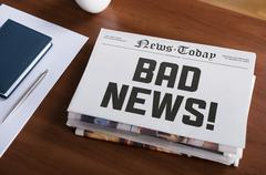 Bad news Stock Photos
