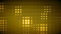 golden yellow orbs behind glass blocks - stock footage