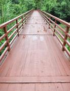 Bridge to the jungle,khao yai national park,thailand Stock Photos