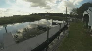 Airboat Adventure Part 1 (Crane on Dock) Stock Footage