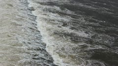 The flow of river water Stock Footage
