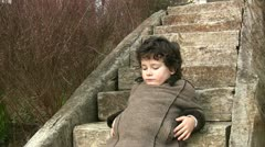 Young boy boring Stock Footage