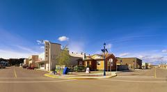 Yukon Theatre in Whitehorse the capitol of the Yukon - stock photo
