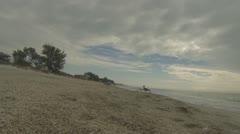 Walking along Florida Beach  (Beach Series Part 3) Stock Footage