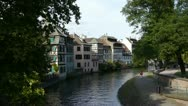 Stock Video Footage of Curved canal in Strasbourg