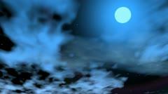 Romantic moon - 3D render - stock footage