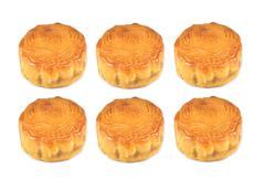 chinese mooncake, the chinese words on the mooncake is not a logo or trademar - stock photo