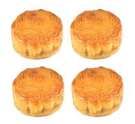 moon cake for chinese mid autumn festival - stock photo