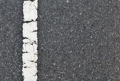 asphalt road texture with white stripe - stock photo