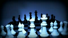 Chess pieces on the board Stock Footage