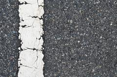 Stock Photo of asphalt road texture with white stripe