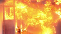 Boiling Fire - stock footage