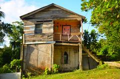 Old Worn Caribbean House - stock photo