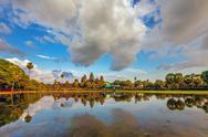 Angkor wat temple Stock Photos