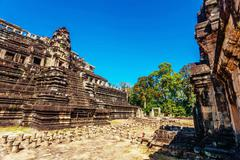 Stock Photo of ancient buddhist khmer temple in angkor wat complex