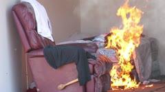 Mattress Fire Stock Footage