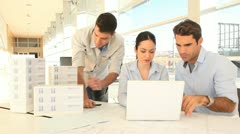 team of architects working on project - stock footage
