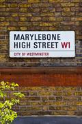 Marylebone High Street in London Stock Photos