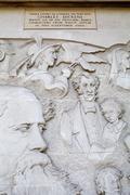 Charles Dickens Mural in London - stock photo