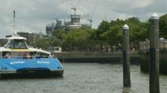 Brisbane CityCat docking p.o.v 2 Stock Footage