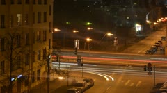 night traffic time lapse - stock footage