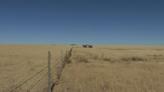New Mexico fence and shack Stock Footage