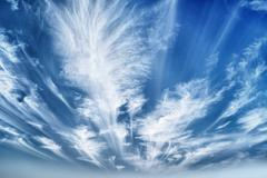 Daytime sky with stratus clouds Stock Photos