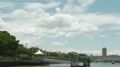 Brisbane CityCat docking p.o.v Stock Footage