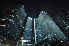 Office buildings - skyscrapers Stock Illustration