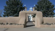 Stock Video Footage of New Mexico Rancho de Taos church