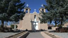 New Mexico Rancho de Taos church 1 - stock footage